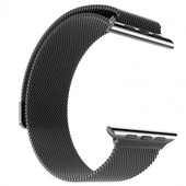 HOCO Milanese Apple Watch Polsband Zwart - 42mm