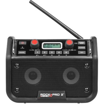 Image of FM Bouwradio PerfectPro Rockpro 2 AUX, SD, FM, USB Spatwaterbestendig, Stofdicht, Stofvast, Herlaadbaar Zwart