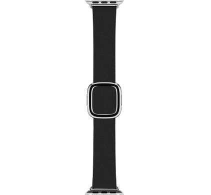Apple Watch 38mm Polsband Modern Leer Zwart - S