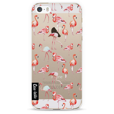 Image of Casetastic Softcover Apple iPhone 5/5S/SE Flamingo Party
