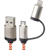 Lionheart Dual Kabel Lightning/Micro USB 1m