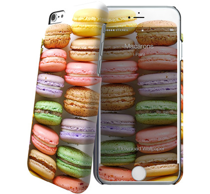 I-Paint Cover Apple iPhone 6/6s Macarons