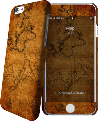 I-Paint Cover Apple iPhone 6/6s Map