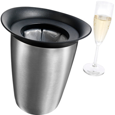 Image of Vacu Vin active champagne cooler elegant - zilverkleurig