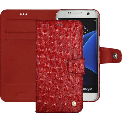 Noreve Tradition B Ostrich Leather Case Samsung Galaxy S7 Rood