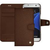 Noreve Tradition B Grain Leather Case Samsung Galaxy S7 Edge Bruin