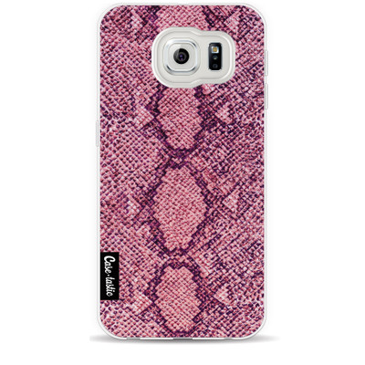 Foto van Casetastic Softcover Samsung Galaxy S6 Pink Snake