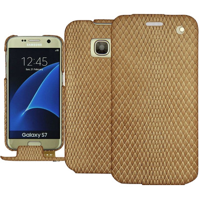 Noreve Tradition Snake Leather Case Samsung Galaxy S7 Beige