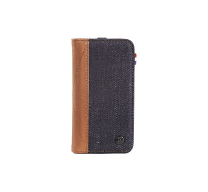 Decoded Denim Leather Wallet Apple iPhone 5/5S/SE Bruin