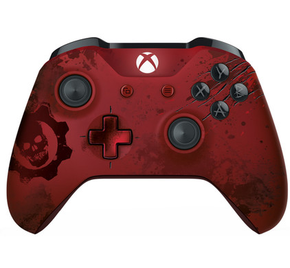 Xbox One S Gears of War 4 Crimson Omen Limited Edition draadloze controller