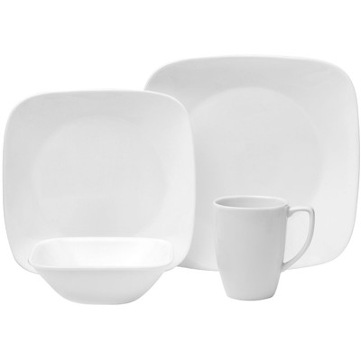 Image of Corelle Square Pure White Serviesset 16-delig