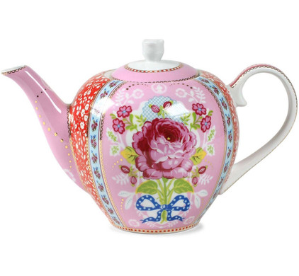 Pip Studio Floral Theepot Roze 1,5L