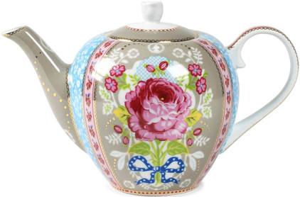 Pip Studio Floral Theepot Khaki 1,5L