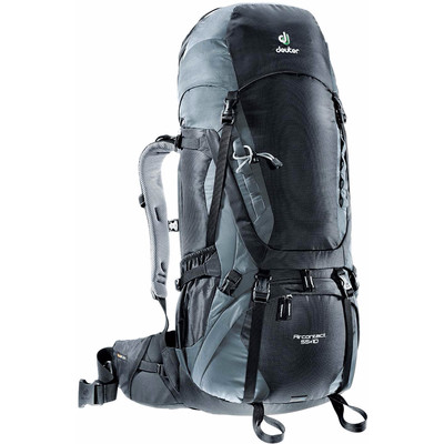 Image of Deuter Aircontact 55 + 10 Black/Titan