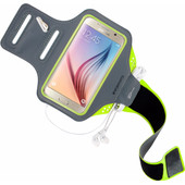 Mobiparts Comfort Fit Sportarmband Samsung Galaxy S6 Groen