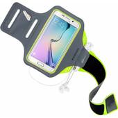 Mobiparts Comfort Fit Sportarmband Samsung Galaxy S6 Edge Groen