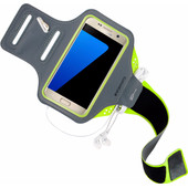 Mobiparts Comfort Fit Sportarmband Samsung Galaxy S7 Groen