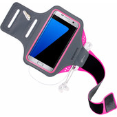 Mobiparts Comfort Fit Sportarmband Samsung Galaxy S7 Edge Roze