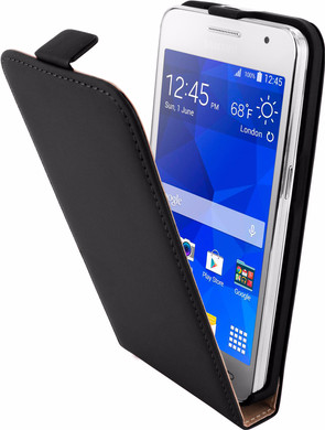Mobiparts Premium Flip Case Samsung Galaxy Core 2 Zwart