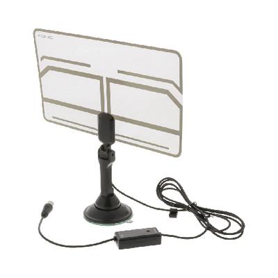 Image of DVB-T-binnenantenne 0,5 mm ultradunne vormgeving 25 dB FM/VHF/UHF tran