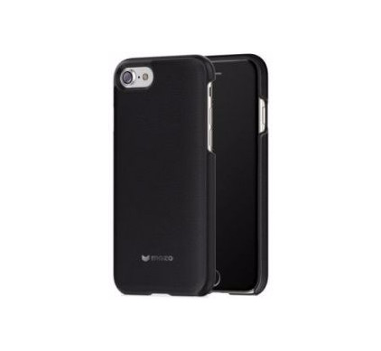 Mozo Back Cover Leather Apple iPhone 6 Plus/6s Plus/7 Plus/8 Plus Zwart