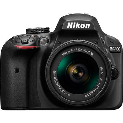 Image of Nikon D3400 + AF-P 18-55mm VR - Zwart