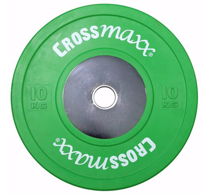 Crossmaxx Competition Bumper Plate 10 kg Green