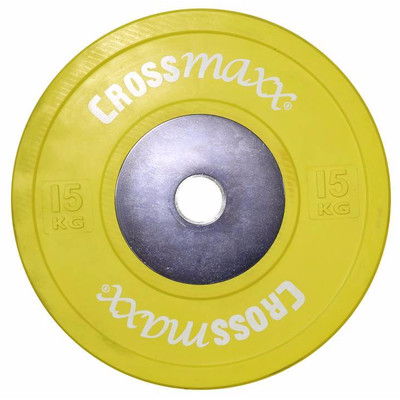 Image of Crossmaxx Competition Bumper Plate 15 kg Yellow