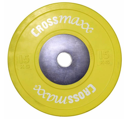 Crossmaxx Competition Bumper Plate 15 kg Yellow