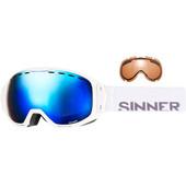 Sinner Mohawk White + Blue Mirror & Orange Lenzen