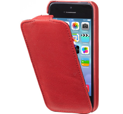 Decoded Leather Flipcase Apple iPhone 5 / 5S Red