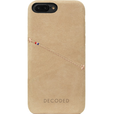 Image of Decoded Leather Back Cover Apple iPhone 7 Plus Beige