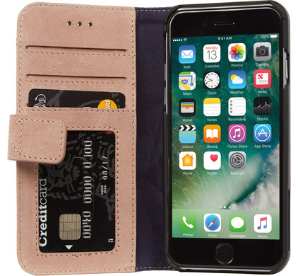 Decoded Leather Wallet Case Apple iPhone 6/6s/7 Roze