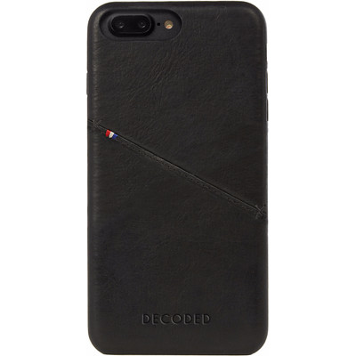 Image of Decoded Leather Back Cover Apple iPhone 7 Plus Zwart