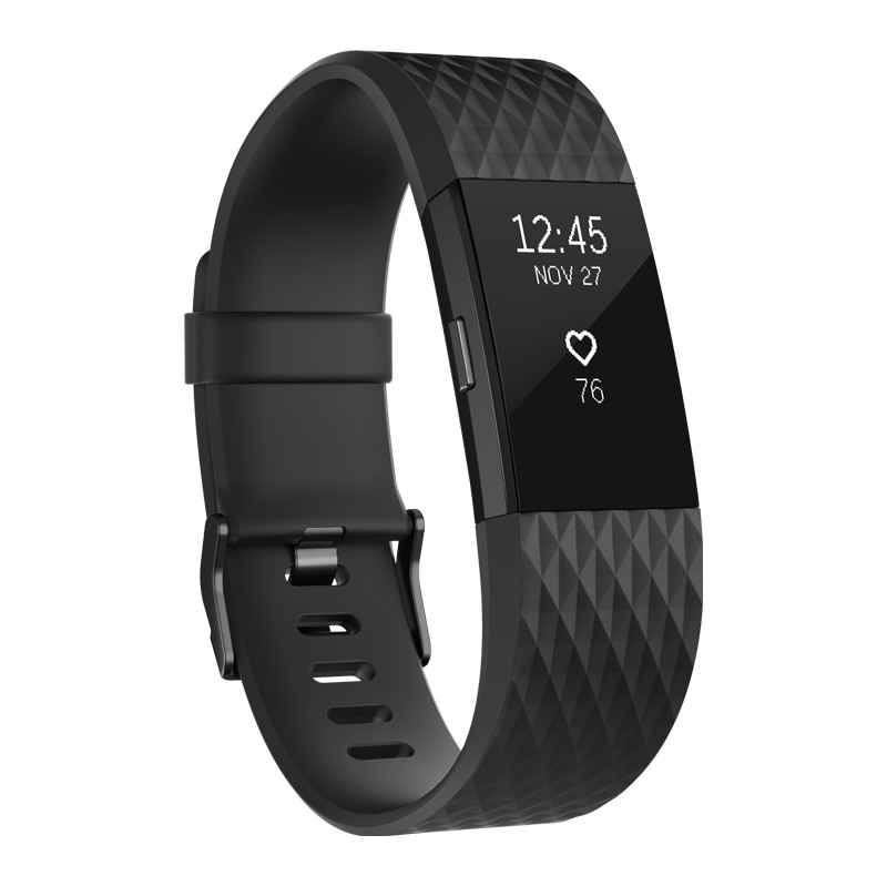 Fitbit Charge 2 Black-Gunmetal L Special Edition