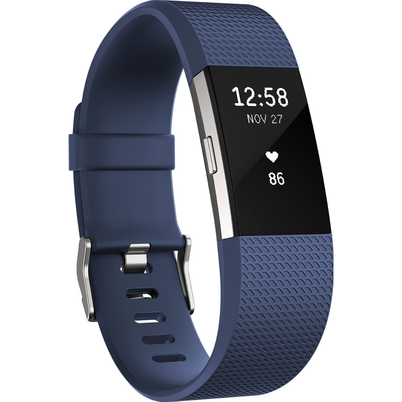 Fitbit Charge 2 Blue-Silver L