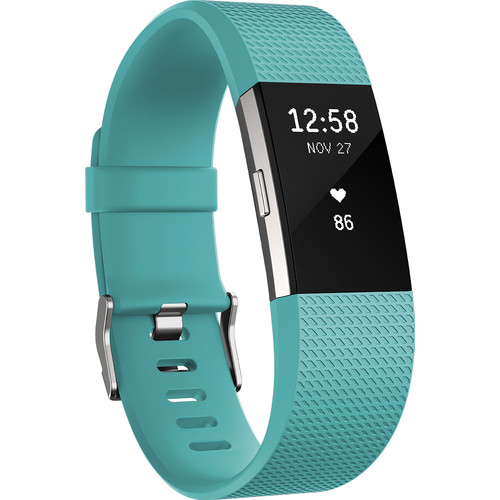 Fitbit Charge 2 Teal/Silver - S