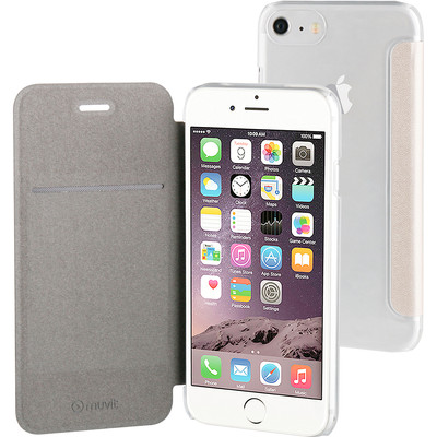 Muvit Booklet Clear Apple iPhone 7 Goud