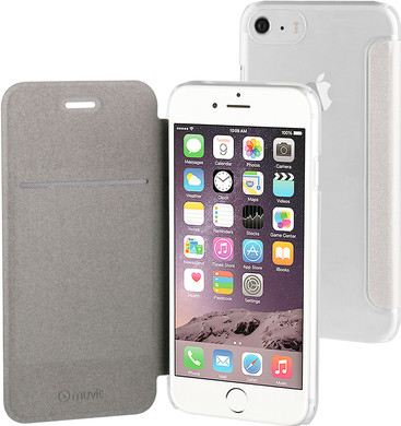 Muvit Folio Apple iPhone 7 Book Case Zilver