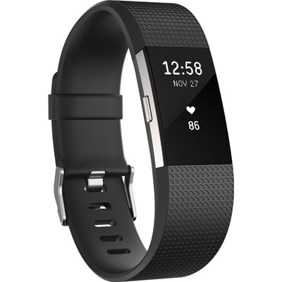 Fitbit Charge 2 Black/Silver - S
