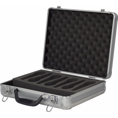 Image of DAP ACA-MIC1 Microfoonkoffer voor 7 microfoons zilver