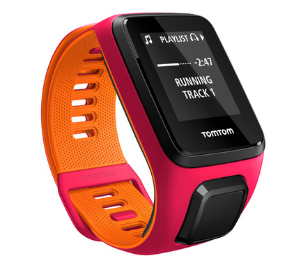 TomTom Runner 3 Cardio + MusicDark Pink/Orange -S