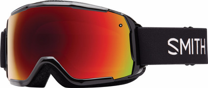 Smith Grom Junior Black + Red Sol X Lens