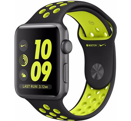 Apple Watch Nike+ 42mm Spacegrijs Aluminium/Zwart Volt Sportband
