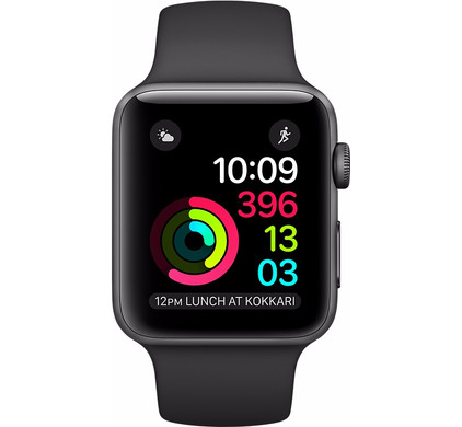 Apple Watch Series 1 38mm Spacegrijs Aluminium/Zwarte Sportband