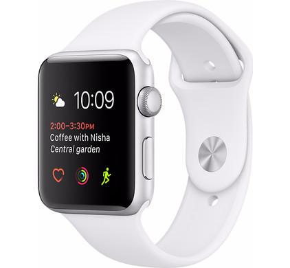Apple Watch Series 1 42mm Zilver Aluminium/Witte Sportband