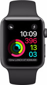 Apple Watch Series 1 42mm Spacegrijs Aluminium/Zwarte Sportband