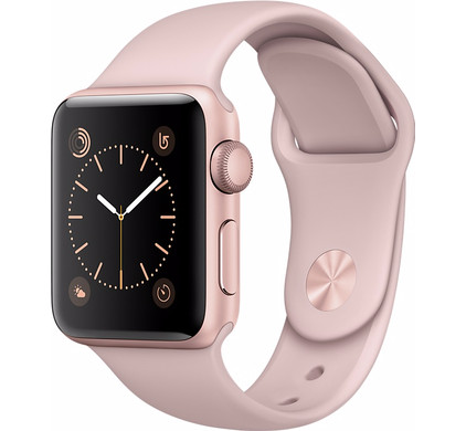 Apple Watch Series 2 38mm Rosegoud Aluminium/Rozenkwarts Sportband