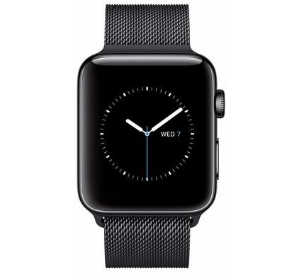 Apple Watch Series 2 42mm Space Zwart Roestvrij Staal/Milanese Polsband