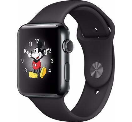 Apple Watch Series 2 38mm Space Zwart Roestvrij Staal/Zwarte Sportband